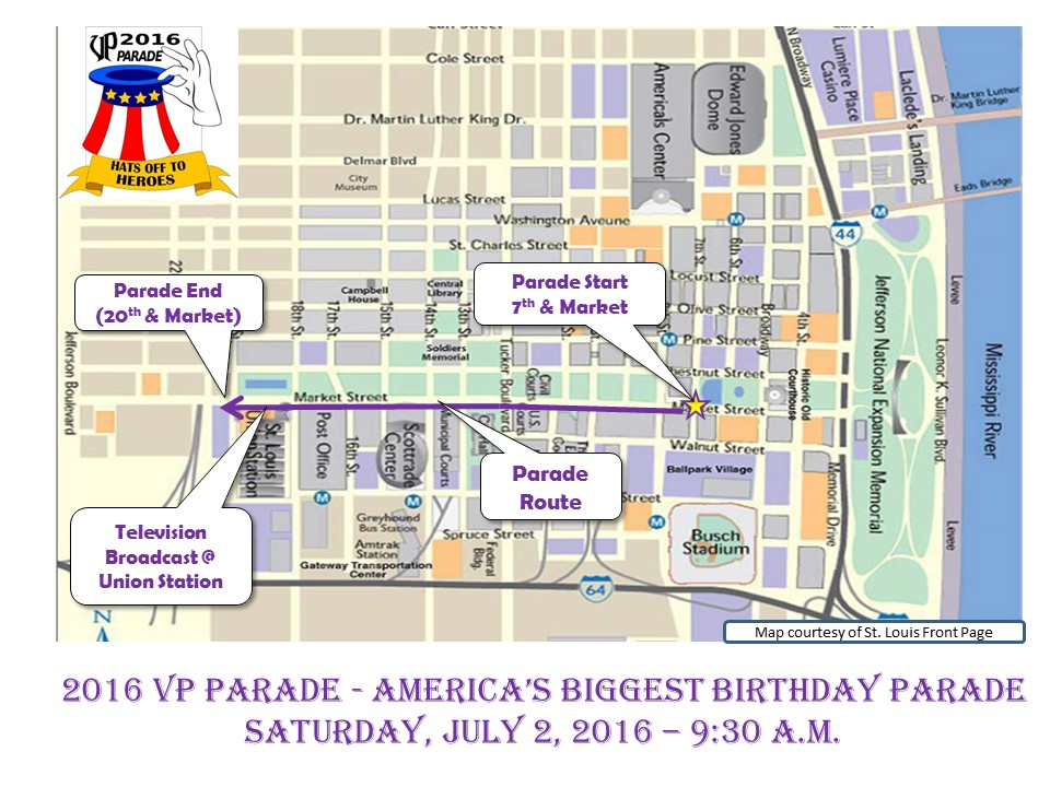 VP Parade Route Map 06 13 16